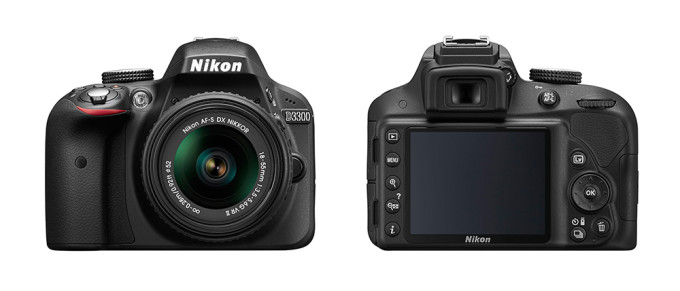 Nikon D3300 - front and rear view